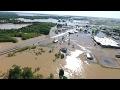 Historic Flooding at Black River Bridge May 2, 2017 in Pocahontas, Arkansas
