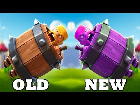 CLASH ROYALE NEW BALANCE UPDATE BARBARIAN BARREL OLD vs NEW