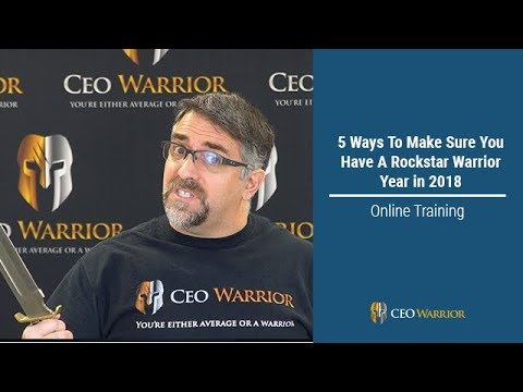 5 Ways To Make Sure You Have A Rockstar Warrior Year in 2018