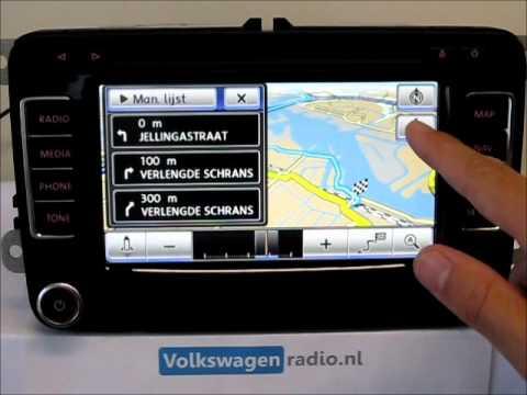 RNS510 Navigatie Basics, instellingen, navigatie adres invoeren, media, dvd  vrijgeschakeld