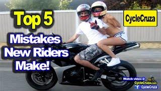 Top 5 Mistakes New Motorcycle Riders Make | MotoVlog
