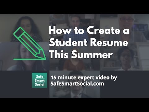 How to Create a Student Resume This Summer - YouTube