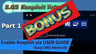 "PS4 5.05 Kexploit ""jailbreak"" Tutorial PT1 (B) (bonus UPDATE)  Read description"