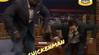 Shaq & Jimmy Fallon hittin da Chicken Wing dance 😂