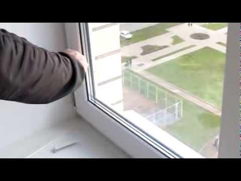 Как приподнять створку на пластиковом окне