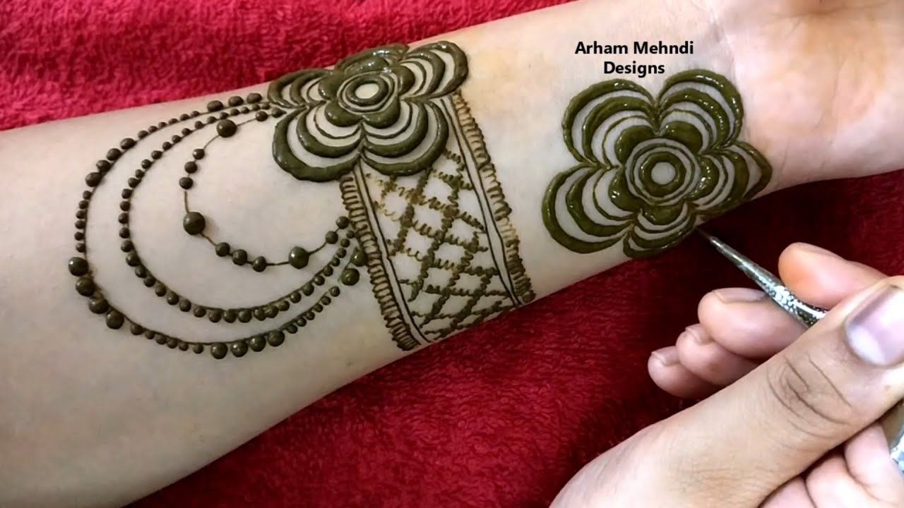new mehndi design 2019 simple and easy front hand