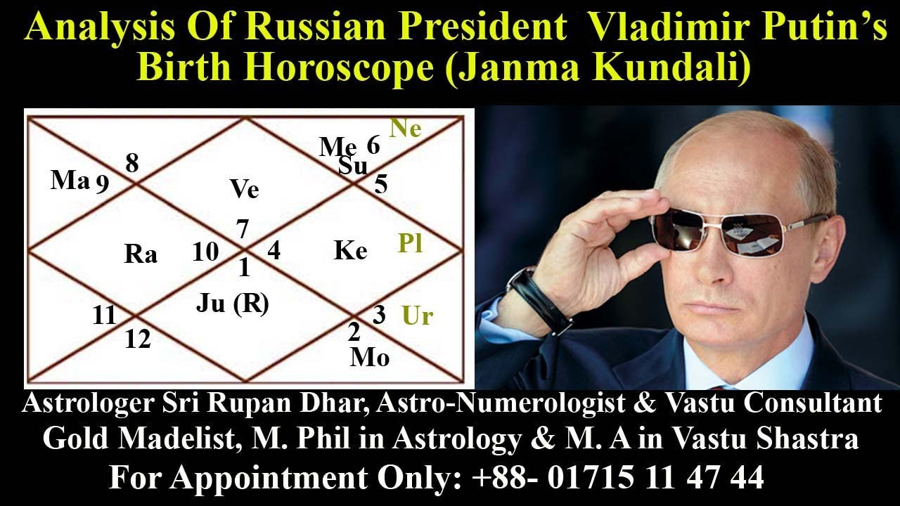 Russian President Mr Vladimir Putin So Lucky Powerful Popular Horoscope Analysis Youtube