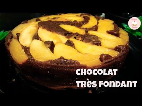 gâteau-renversé-aux-pommes-poires-chocolat
