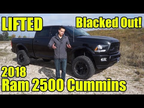 "Ram 2500 Lift Kit >> LIFTED 2018 Ram 2500 Laramie Cummins! BLACKED OUT! 3"" BDS ..."