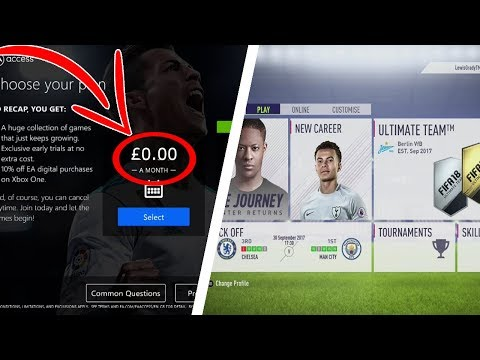 HOW TO GET EA ACCESS!!   PLAY FIFA 18 & MORE EARLY!