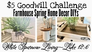 3 FARMHOUSE HOME DECOR DIYS | OLD WORLD HOME $5 GOODWILL CHALLENGE
