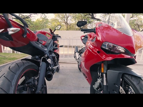 Ducati or Triumph? Two red monsters in PUNE |