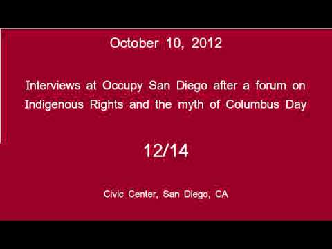 [12/14] Occupy San Diego - Columbus Day Interviews