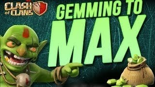 Clash of Clans Gem Spree! 28,000 gems spent!! Maxed Wizard Towers