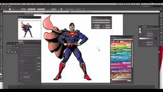 Adobe Illustrator CS6 - Image Trace & Live Paint Bucket