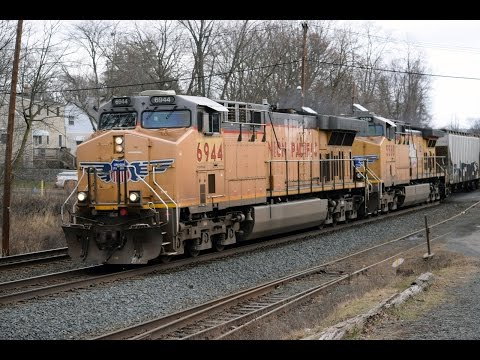 Freight Train Operations in Piscataway, NJ - January 28, 201