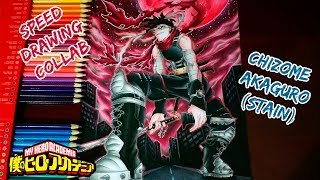 Speed Drawing - Hero Killer: Stain | Chizome Akaguro (Boku no Hero Academia) Collab