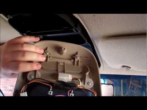 Overhead Trip Computer Console Install 2001 Dodge Dakota