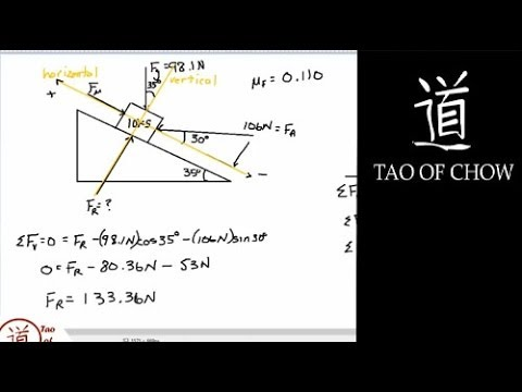 Physics Inclined Plane Example With Friction Youtube