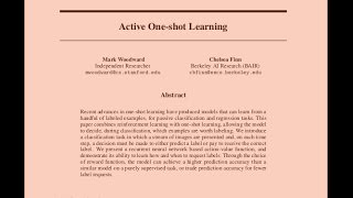 Active One-shot Learning