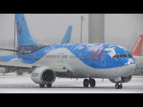 Incredible Snowy Plane Spotting at Salzburg Airport, SZG | 03-02-18
