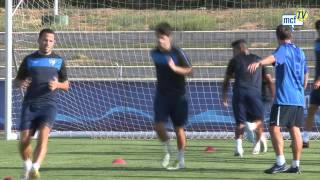 Málaga Club de Fútbol Televisión. Martes 23/08/11. Entrenamiento Estadio de Atletismo