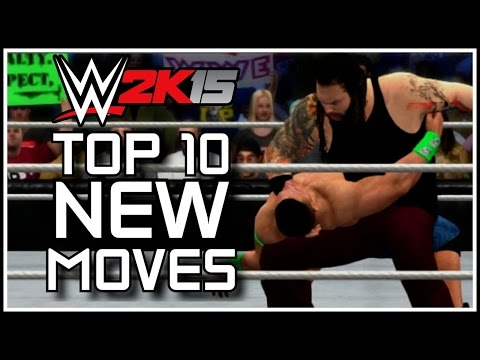 WWE 2K15 - Top 10 NEW Moves! (WWE 2K15 Countdown)
