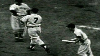 1952 WS Gm7: Mantle takes Black deep in the seventh