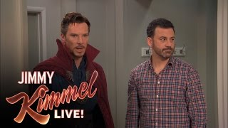 Jimmy Kimmel Hires Dr Strange(Jimmy hires Doctor Strange (played by Benedict Cumberbatch) and things do not go as planned. Kimmel Kids: Out of Focus Group ..., 2016-10-21T04:42:00.000Z)