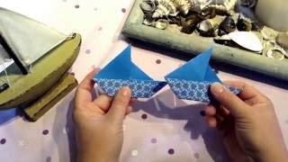 Origami Papierschiffchen- ganz einfache Diy Variante für Girlanden, Karten usw.
