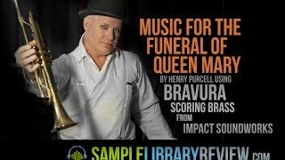 Music for the Funeral of Queen Mary Henry Purcell using Bravura Scoring Brass Clockwork Orange Score