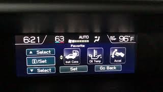 2018 Subaru Crosstrek Limited Upper Screen Settings