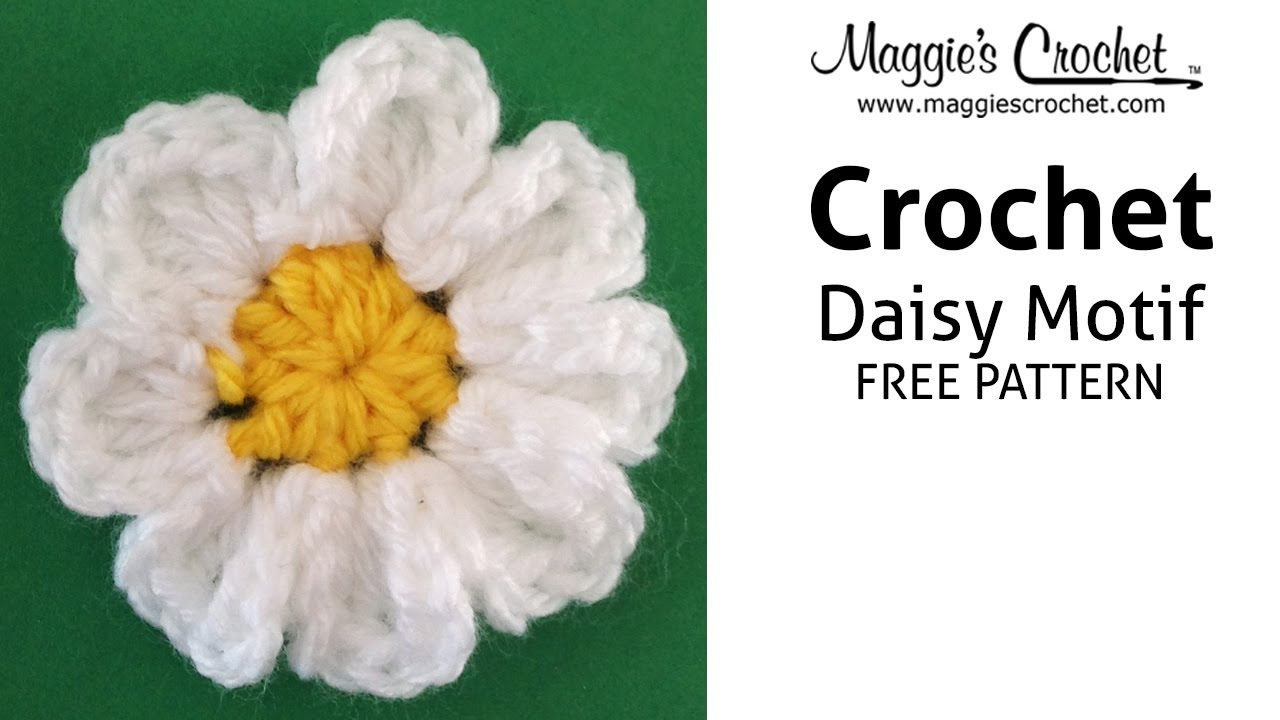 Daisy Motif Free Crochet Pattern Right Handed Youtube