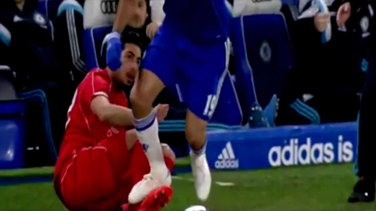 Diego Costa Dirty Stamp On Emre Cans Ankle Chelsea Vs Liverpool 1 0 HD