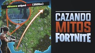¿Límite infinito de alcance en un francotirador?   Cazando mitos Fortnite 11
