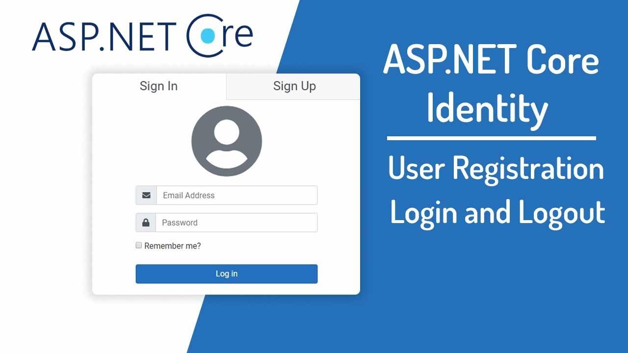 Asp Net Core Mvc Login And Registration Using Identity Youtube