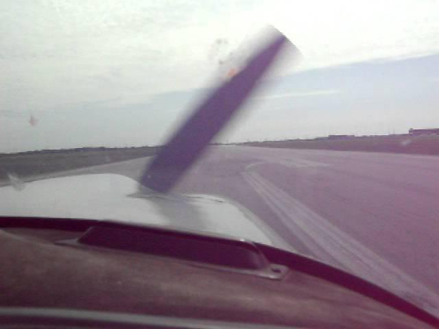 PA28R Landing at Lydd airport runway 21