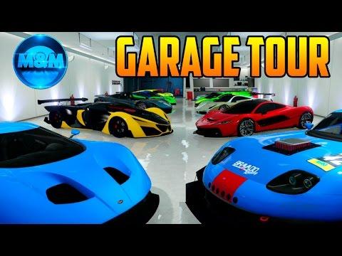 TOUR POR GARAGES DE + $30'000,000 & 40 AUTOS | GTA Online