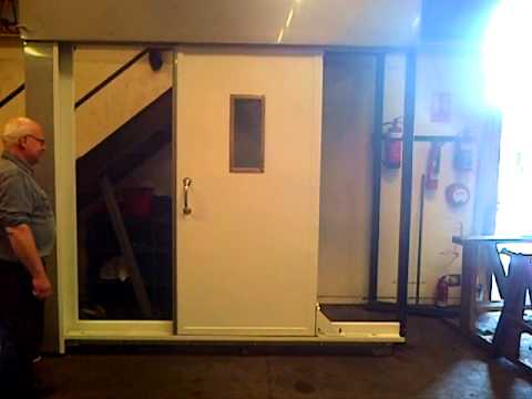Air Operated A60 Sliding Door Youtube