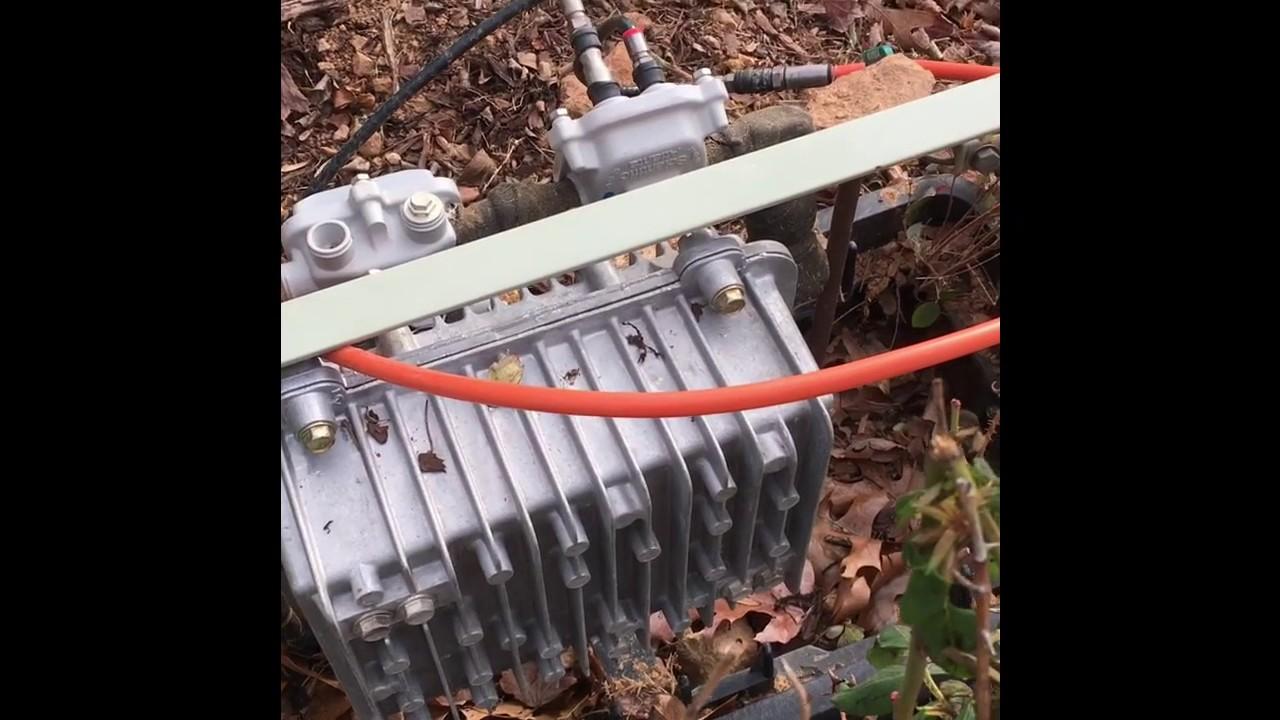 Fiber Gigabit Internet Installation Underground Cable