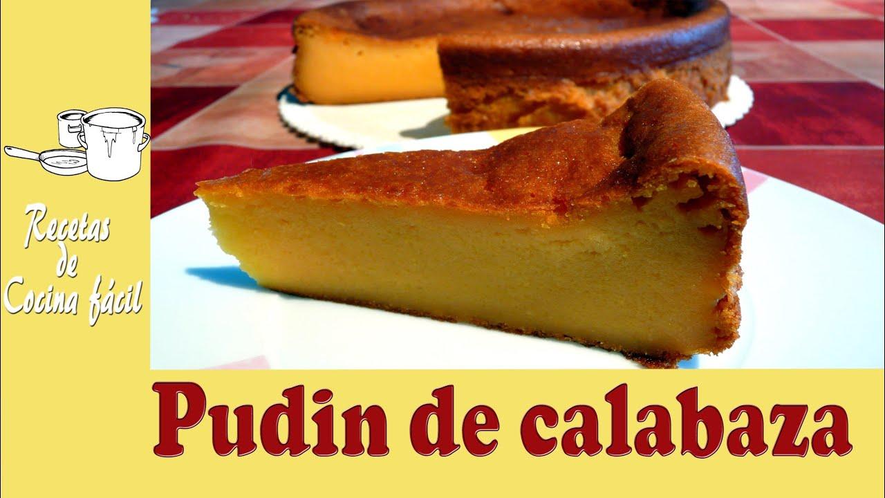 Recetas de cocina f cil pudin de calabaza pumpkin - Pure de patatas y calabaza ...