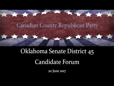 Senate District 45 Candidate Forum, Canadian County Republican Party