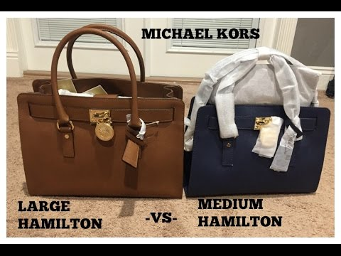 405ea73a7ec0 Michael kors Medium vs Large Hamilton - YouTube