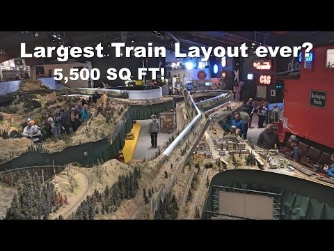 5,500 SQ FT  Model Train Layout! | Colorado Model Railroad Museum