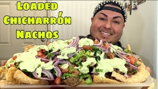 Loaded Chicharrón Nachos | Low Carb | ASMR Crunch Realness