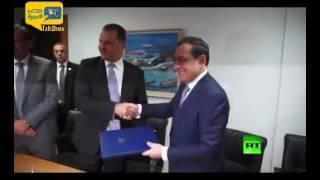 شاهد.. لحظة توقيع اتفاقية لنقل الغاز الطبيعي من قبرص لمصر