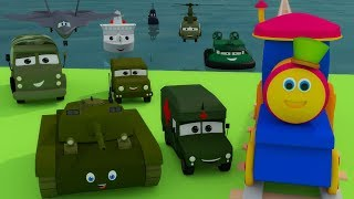 Боб Поезд | Посещение армейского лагеря | Learn Army Vehicles | Bob The Train Visit to the Army Camp