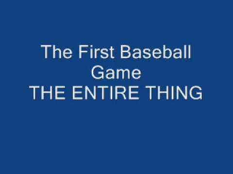 The Entire First Baseball Game Skit