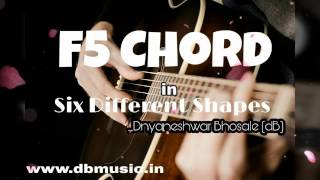 f5 chord in 6 different shapes