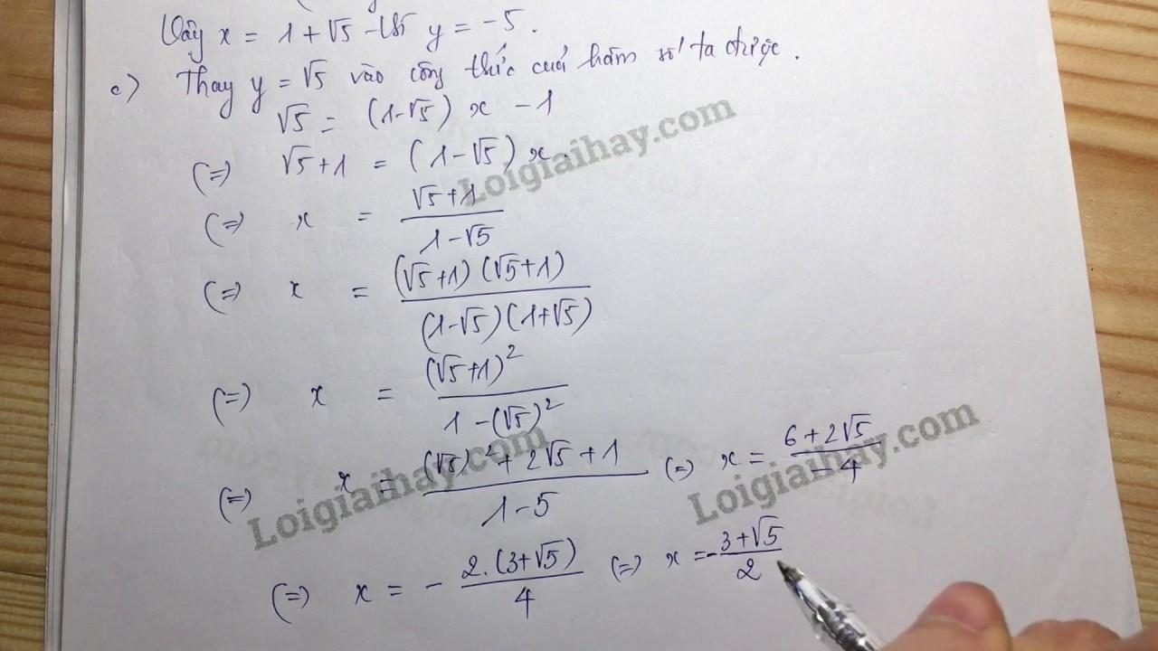 Giải bài 14 trang 48 SGK toán 9 tập 1